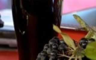5 простых рецептов настойки из черноплодки (черноплодной или чёрной рябины)